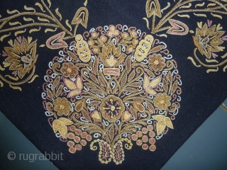 Fabulous Rasht embroidery, very good condition, 90 x 97 cm, 35.4 x 38.2 inch