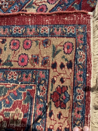 Antique persian mashad rug 12x18 great condition