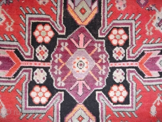 387 x 125 cm  Antique Karabagh Caucasus runner. In very-very good condition, full pile and not problems for this carpet.  More pictures on request. Thanks for your at- tentio to my carpets' inventory. All the  ...