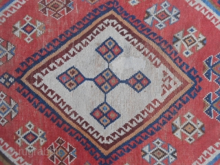 SIZE  cm. 221 x 131 cm. ANTIQUE  LORY  nomadic persian carpet. In good condition.  All wool and all natural dyes.  Other info and photo on request.  Thanks for your attention to  ...