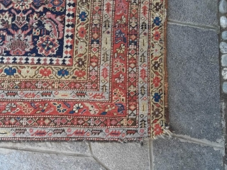427 x 175 is the size of this antique BIDJAR in fair condition.