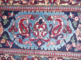 Exported from Iran before the 01.01.2015.this rug. ================================================== Oriental carpet knotted very-very fine in PERSIA. Perfect condition Antique TUDESHK-NAIN, like a new Nain ! I think NAIN village of TUDESHK oder MAYBE ESPAHAN. Beautiful design and very soft  ...