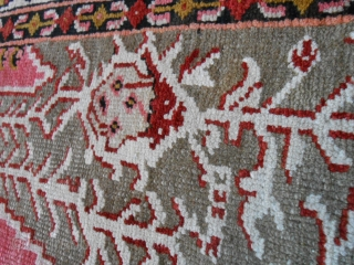 166 x 102 cm Antique carpet from Caucasus region of Karabagh. About 80 years old.
