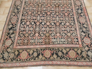 245 x 176  cm is the size of this KARABAGH. Antique CAUCASUS Karabagh heraty in very good condition. Fine knot for this piece antique. Other info or photos of this antique piece on requet.  WARM  ...