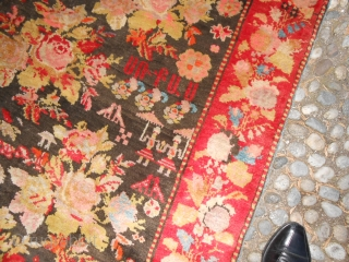 AMAZING KARABAKH antique carpet. Measure   cm 355 x 159  cm. In perfect condition this carpet antique dated 1903. Wool on wool and all natural colors. Knotted in the CAUCASUS district of Azeri KARABAGH. Beautiful  ...