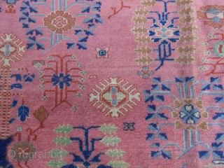 Antique PANDERMA Anatolian carpet in good condition. Only one corner has been damaged