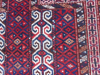 113 x 91 cm. is the size of this antique Turkmen SALATSHAK Youmut tribe. This piece