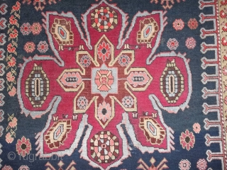 388 x 124 cm Antique carpet CAUCASUS  Lampa-Karabagh. In very good condition.  Original runner knotted around 1900. More pictures and info about this carpet on request.  Greeting from  lake of COMO !