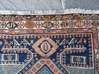 Oriental antique carpet knotted in Persian Azerbaijan. I think fine Meshkin or Baksheyesh village. In very good condition. Period about 1890/1910. All original ends and size. Wool on wool. Original design. Other info or pictures on request. All  ...