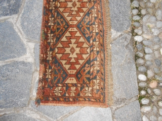 121 x 36 cm ANTIQUE ERSARI PANEL in good condition. End of XIX° th. century. All wool and natural dyes. Shiny wool.  A very beautiful Turkmen piece. Item #300. Other photos and info on request.  REGARDS  from  ...