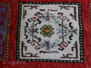 A beautiful and perfect antique OASIS of TURKESTAN, XINJIANG carpet.