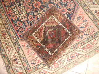 49 x 46 cm  is the size of this Khordjin Belouch antique tribe Mushkwani. Very good condition - full pile (washed). Wool on wool and natural dyes.  Other info and photo on request.  WARM  ...