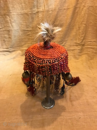 uzbek handmade coral hat, ethnic tribal unique hat, boho hippie hat, decorative hat  hat circumference 18.90 inc (48 cm)  fast shipping all over the world,,,  Thanks visiting for my shop :)