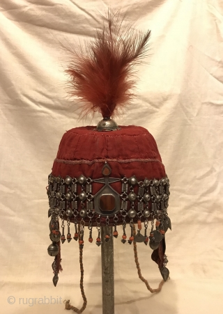 That old Khirgiz ethnic tribal silver hat  For decorative your Home ,,,   Size height : 40 cm Hat circumference : 50 cm  FAST WORLDWIDE SHIPPING almost within 3 to 5 working days ...