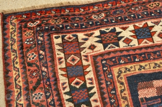 Antique Luri Tribal Persian rug – 4'10 x 8'0 – 147 x 243 cm. Late 19th century. Beautiful colors including a nice purple, yellow and green. Some old faded repairs mostly in  ...