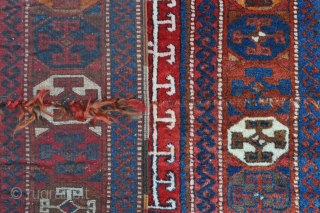 """East Anatolian """"Yoruk"""" rug, may be a Yatak? - interesting angora goat knotted pile strip across the center, see close up images, some say it is a good luck charm?! Note the  ..."""