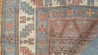 Antique Kurd rug 255x142 Reasonable condition even light wear some salvage damage and slight damage to 2 corners but has kilim ends.colours good