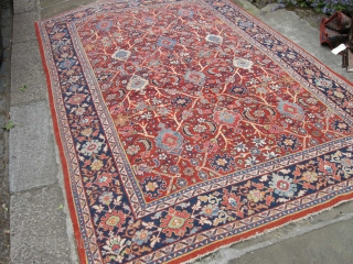 Old Sarouk Mahal carpet first half 20th century all natural dyes mint condition 325 x 210.