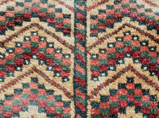 """Here is a beautiful old Mushwani Belouch Balisht. Measureing          19"""" wide and 36"""" long the balisht is  ..."""