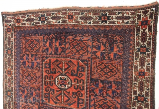Timuri Baluch Bag Face. Larger Than Usual Size, 2-8 x 3-0 ft. Second Half 19th Century.
