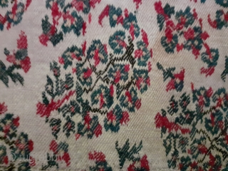 Antique shawl fragment, early 19c, 21x15inch.