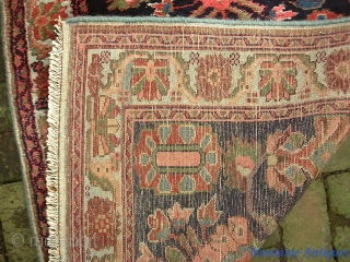 Mehriban Runner-- 2 ft 10 x 9 ft 8. Art deco piece in useful narrow size. Mint condition. Incredibly thick and heavy with beautiful soft colors. Much prettier than the photos indicate.  ...