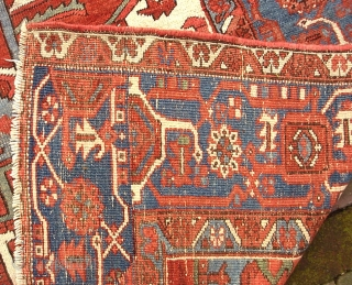 Serapi-- 9.4 x 12. Opulent. Please call for condition Report. Check out abundant fresh posts on our web site: http://www.montaine-antiques.com/oriental-rugs/