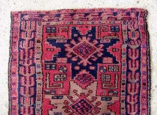 Yastik-- 2.2 x 2.11. Turkish? Kurdish? I'm not sure. It is very good quality. Very nice double wefted knotting. Thick and heavy. The wool is soft and plush. Foundation is soft light  ...