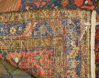 Northwest Runner-- 3 ft 6 in x 13 ft. Thick with compact knotting. Excellent condition. Note small 1 inch slit at one end-- maybe baling hook.  Heavy piece. $35 for ups  ...