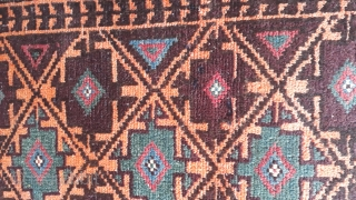 Two pair of balochi balishts with vegetable dyes. Each size 85x53 cm