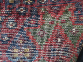 """Anatolian Dazkiri small square mat. All thick heavy silky wool pile with natural colors. It may even be made as a """"vagireh"""" Circa 1900 - 1920/ Size : 15 """" X 14  ..."""