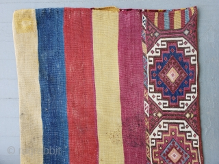 """Anatolian chuval. Some small stains and repairs. Size: 27.5"""" x 45.2"""" - 70 cm x 115 cm."""