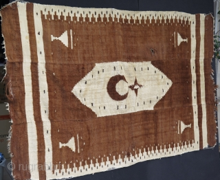 East Anatolian Siirt Rug. Some condition issues as pictured.