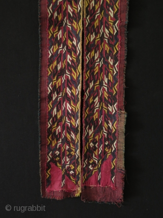 Turkmen silk embroidered chirpy collar. 