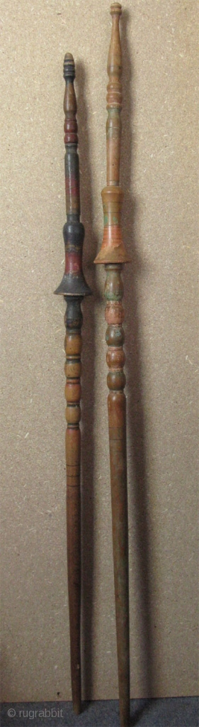 "Balkan / Pomak / Rodopi Mountain distaff. Early 20th. Cent. Size: 40"" x 42"" - 101cm and 108cm."