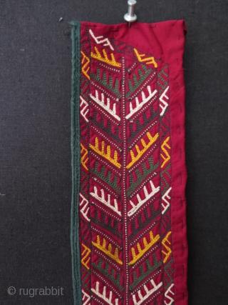 "Turkmen chirpy collar. One very small damage on it. Size: 3.5"" x 43.3"" - 9 cm x 110 cm."