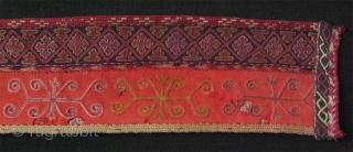 Karakalpak collar. Silk embroidery on broadcloth.