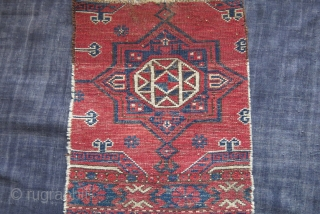 """Turkmen Ersary torba fragment. very small area restored on top, can beseen on back side image. great natural colors. circa late 19th. size : 16"""" by 12"""" - 41 cm X 30  ..."""