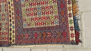 Needle work kilim khorjeen.