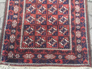 Large Antique Baluch rug. size: ca 280x100cm / 9'2''ft x 3'3''ft