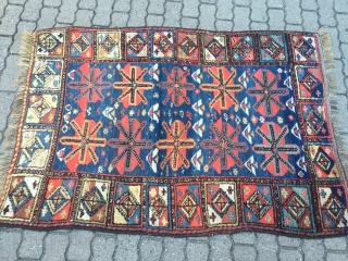 Antique Kordi rug from Khorassan province in Northeast Persia, beautiful drawing, size: 160x110cm / 5'3''ft x 3'6''ft