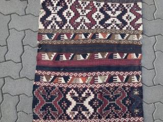 Antique Anatolian Malatya kilim, size: 300x73cm / 9'9''ft x 2'3''ft