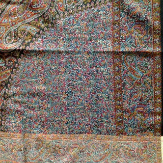 Rare antique kashmir moon shawl circa 1800. The shawl is in excellent condition. Colours are very bright. It has no moth holes or fading. Its a collection peace.