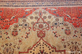 This magnificent Antique Persian Kashan Mohtashem , 7 ft 9 in x 9 ft 6 in ,Circa 1880's  is part of our Oct 15th auction.  The collection includes handmade beautiful  ...