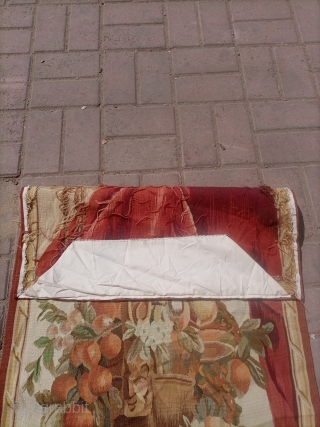 Vintage hand woven french entre-fenetre tapestry.soft and excellent quality.size 148×64 cm.Email for more info and price.