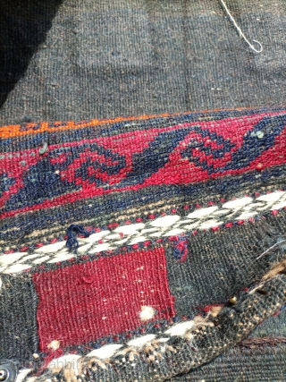 Old baluch.beautiful design with kilim.Email for more info and pics.
