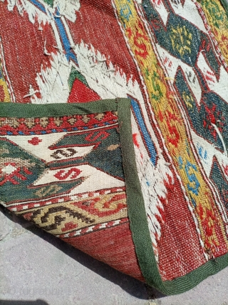 Old soumak mafrash kilim.Email for more info and pics.