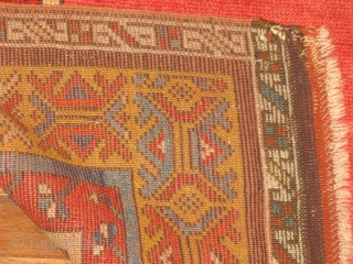 Central Anatolian Turkish prayer rug .Possibly Konya 3.6x5.6 excellent condition