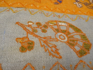 A mysterious kilim sourced in Afghanistan, but from the colours and design, we venture to say it could be Iranian, perhaps from Yazd? Opinions regarding origin welcomed. Nice shinny wool, made in  ...