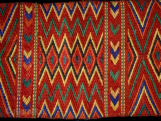 Warrior sash cod. 0533. One of the new items just added on my website www.nonplusultra.cloud. Cotton. Naga people. Nagaland. Northeastern India. Headhunting culture area. First half 20th. century. Perfect condition. Cm. 20  ...